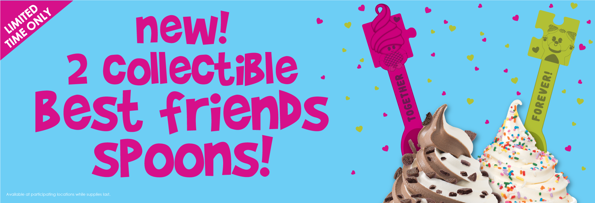 Create new bestie moments with our Best Friends spoons. They are the perfect fit. Get to Menchie's and start adding these spoons to your collection today!