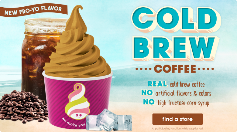 New Cold Brew Coffee Froyo Flavor