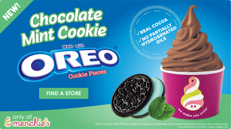 NEW! Flavor Chocolate Mint Cookie made with Oreo Cookie Pieces