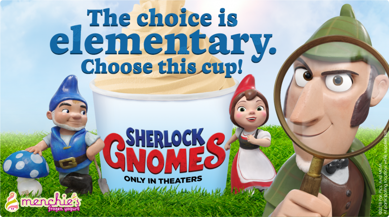 New! Sherlock Gnomes movie cup