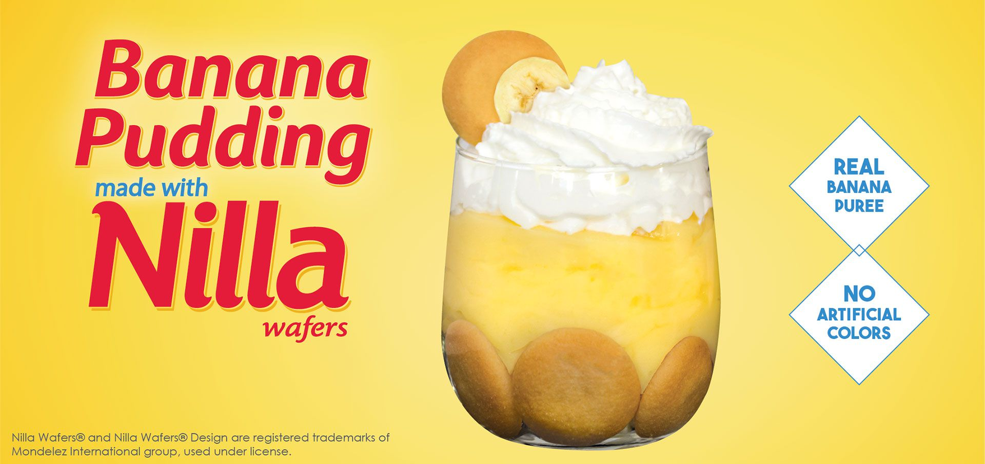 banana pudding made with nilla® wafers label image