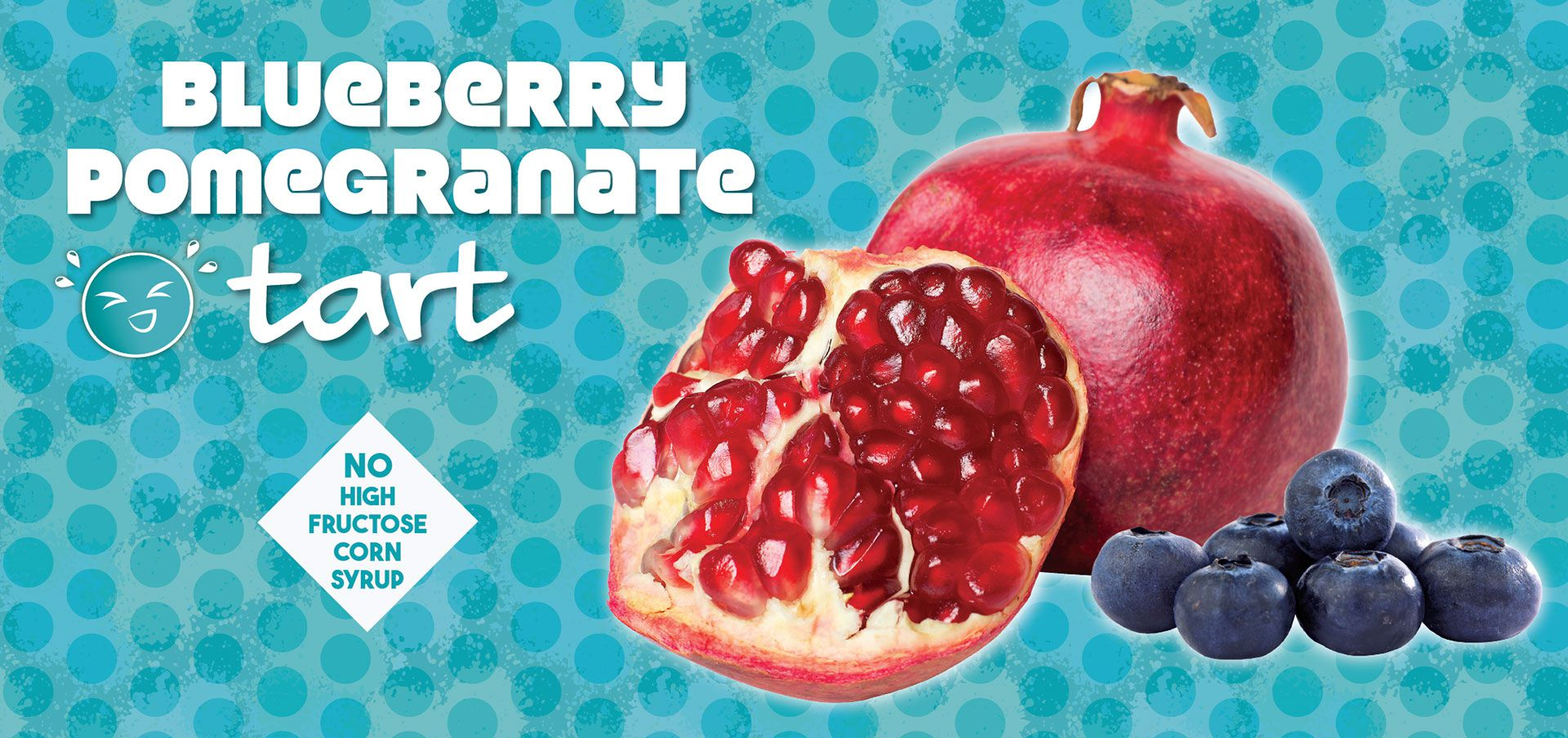 blueberry pomegranate tart label image