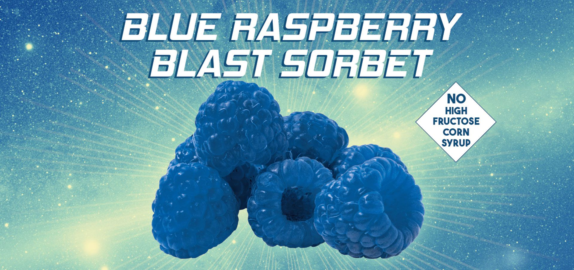 blue raspberry blast sorbet label image