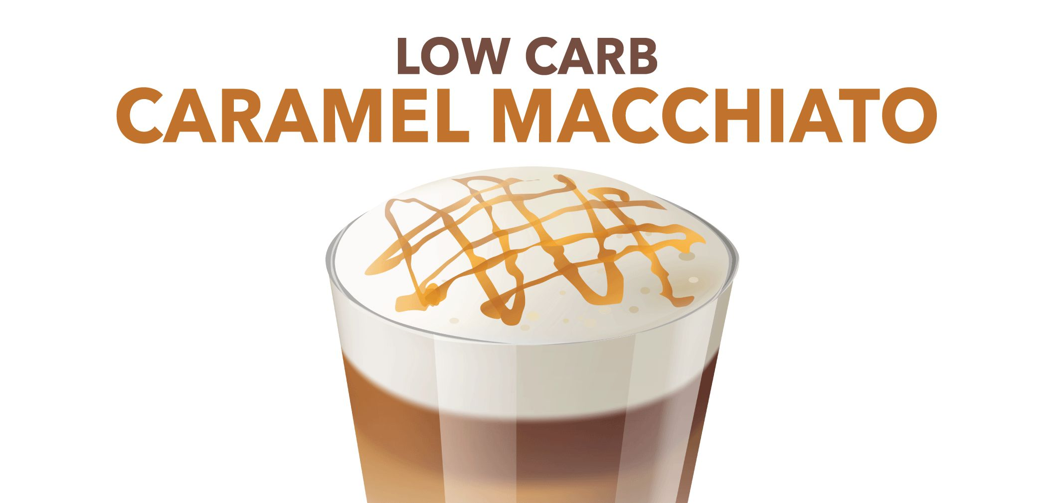 low carb caramel macchiato label image