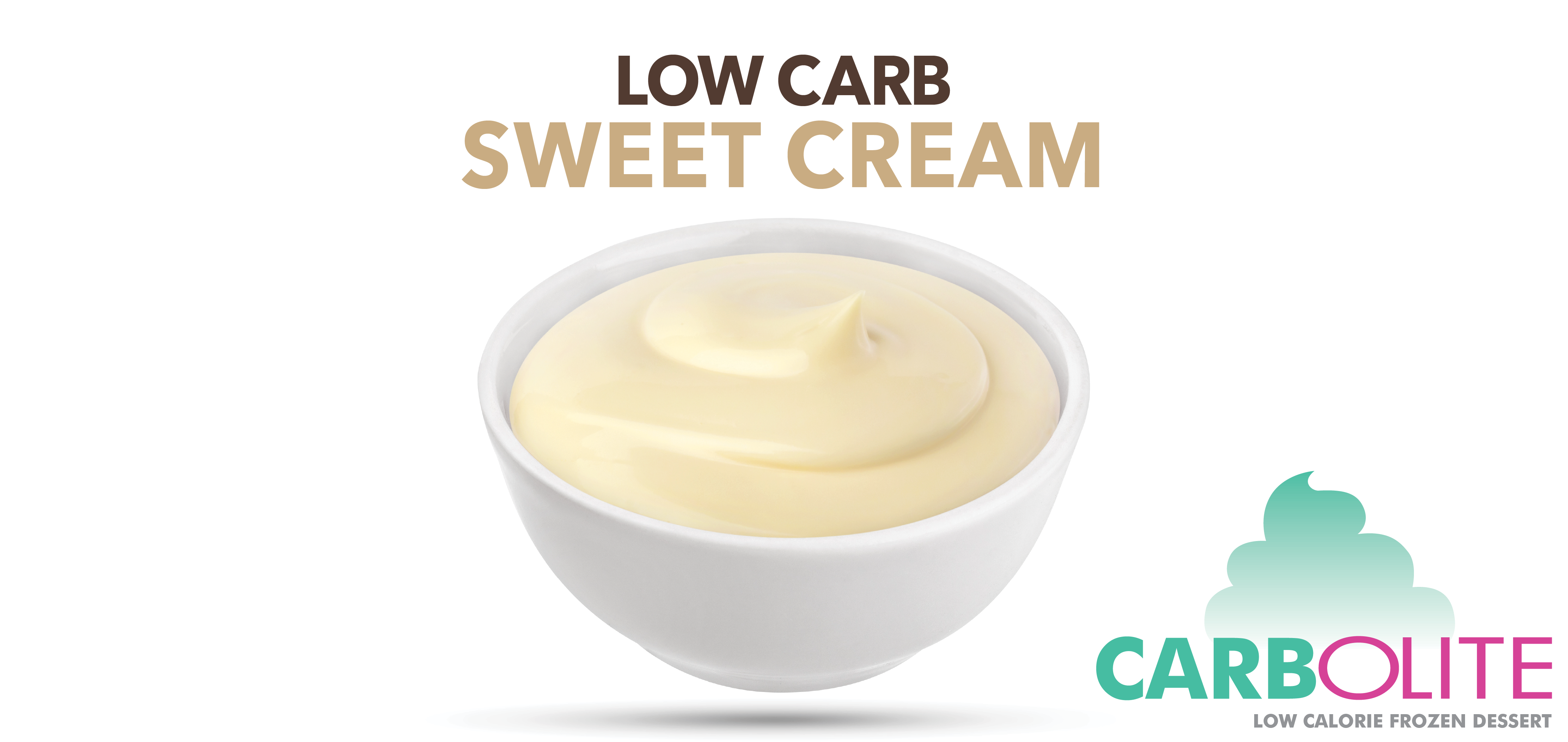 carbolite low carb no sugar added sweet cream label image
