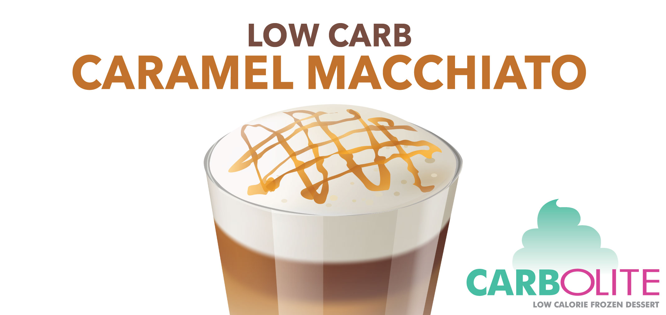 carbolite low carb caramel macchiato label image