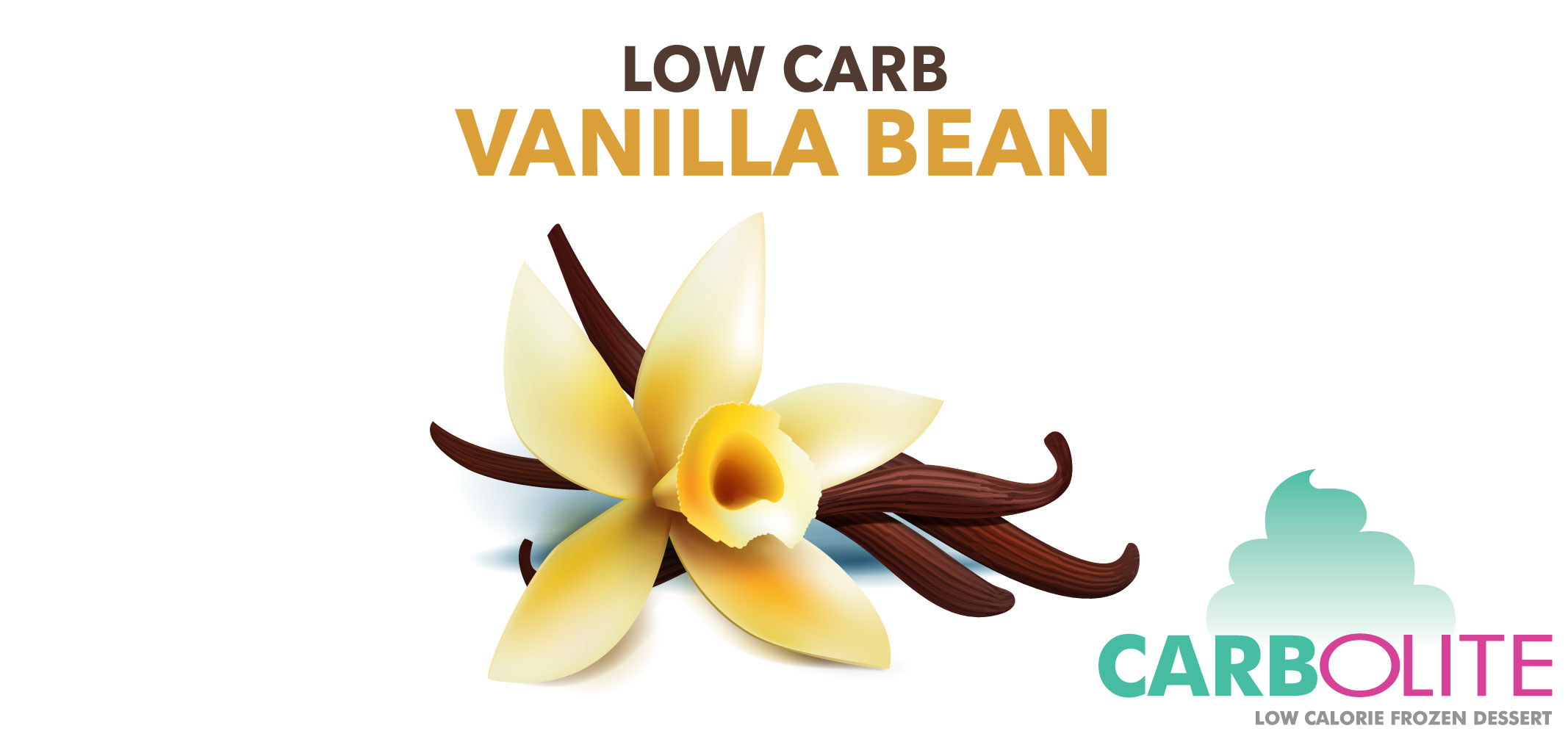 carbolite low carb no sugar added vanilla bean label image