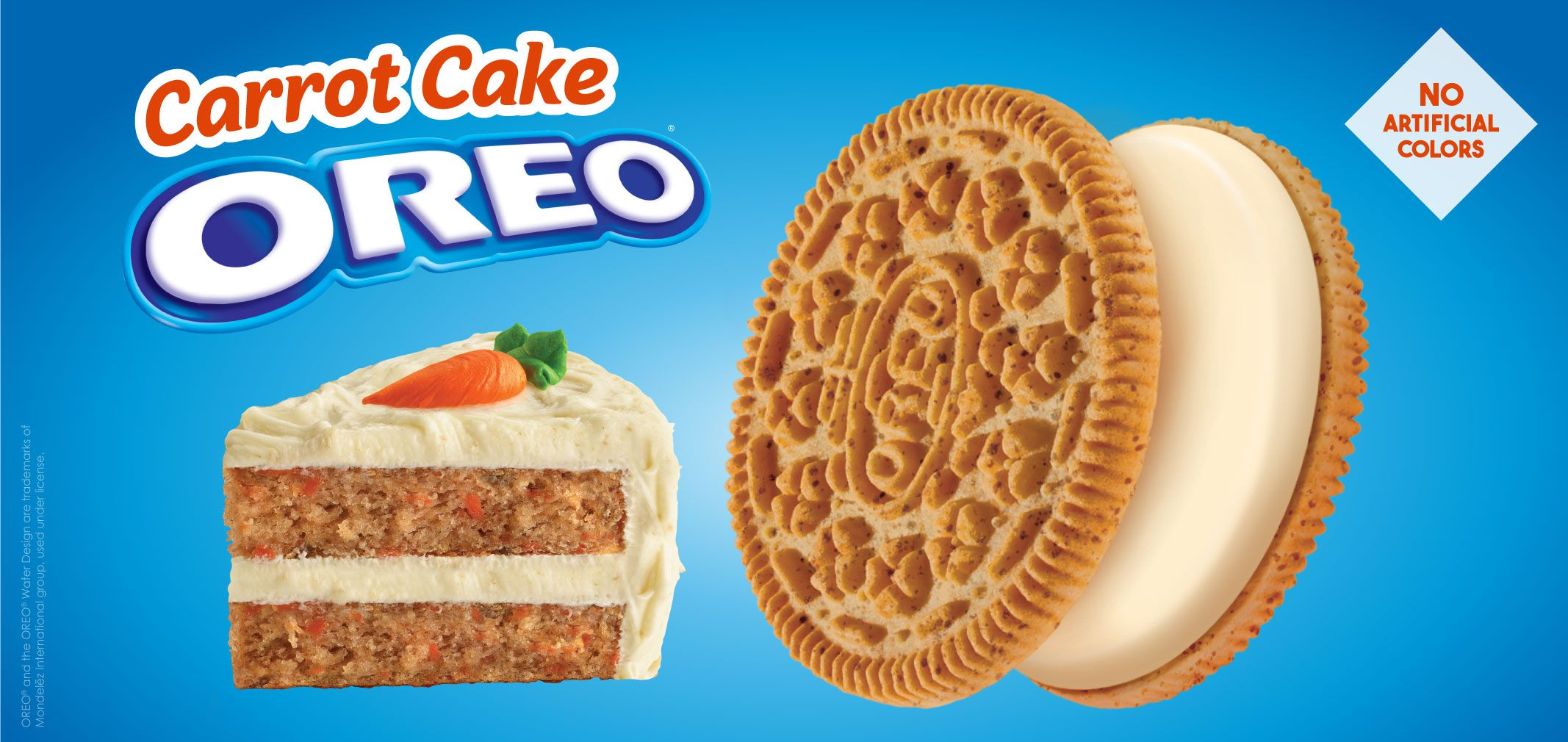 Carrot Cake Oreo Cookie label image