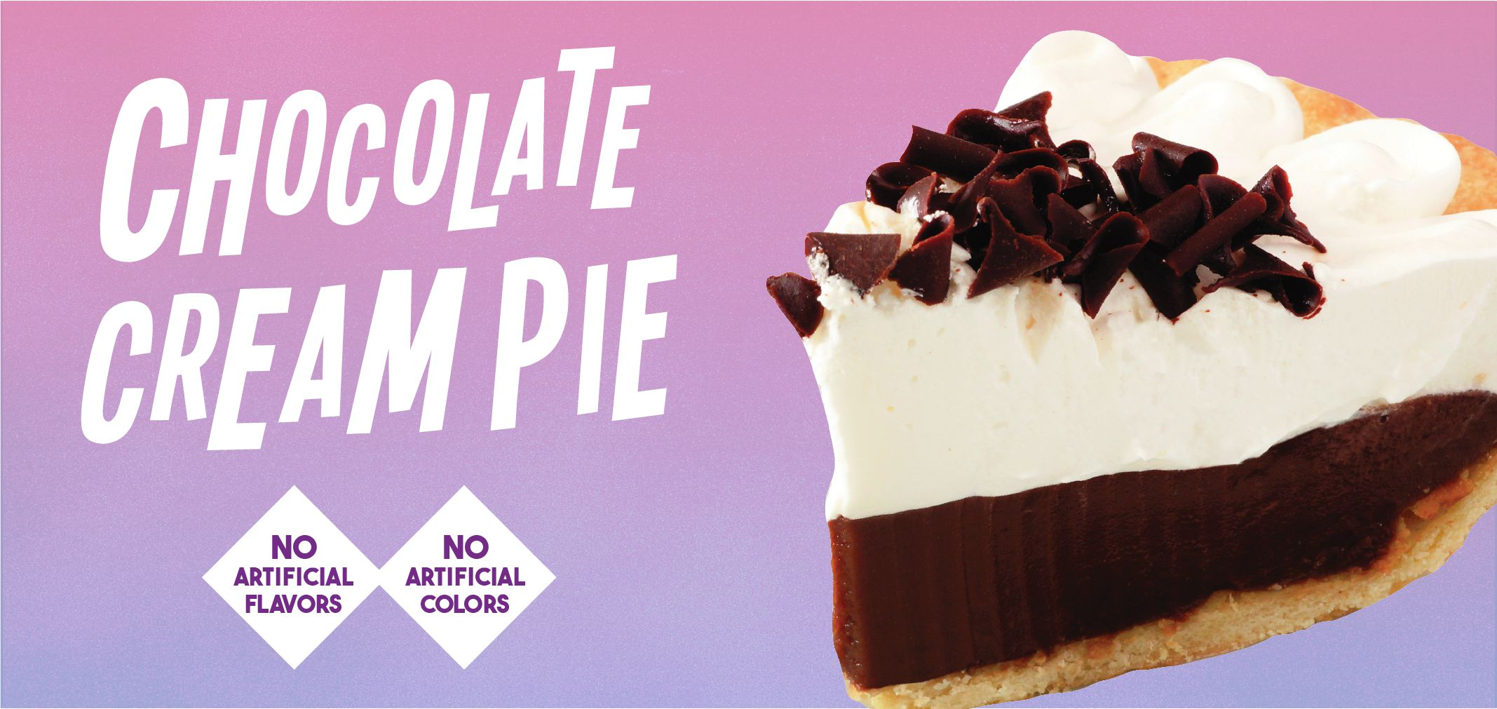 chocolate cream pie label image