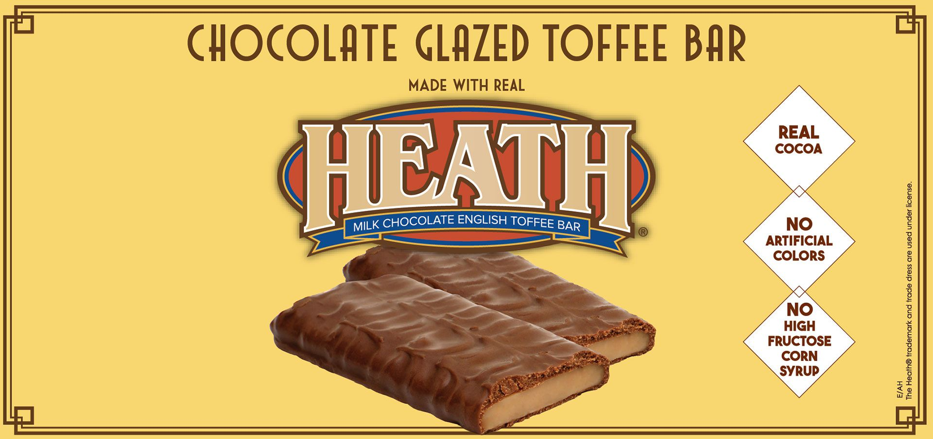chocolate glazed toffee bar made with heath® label image