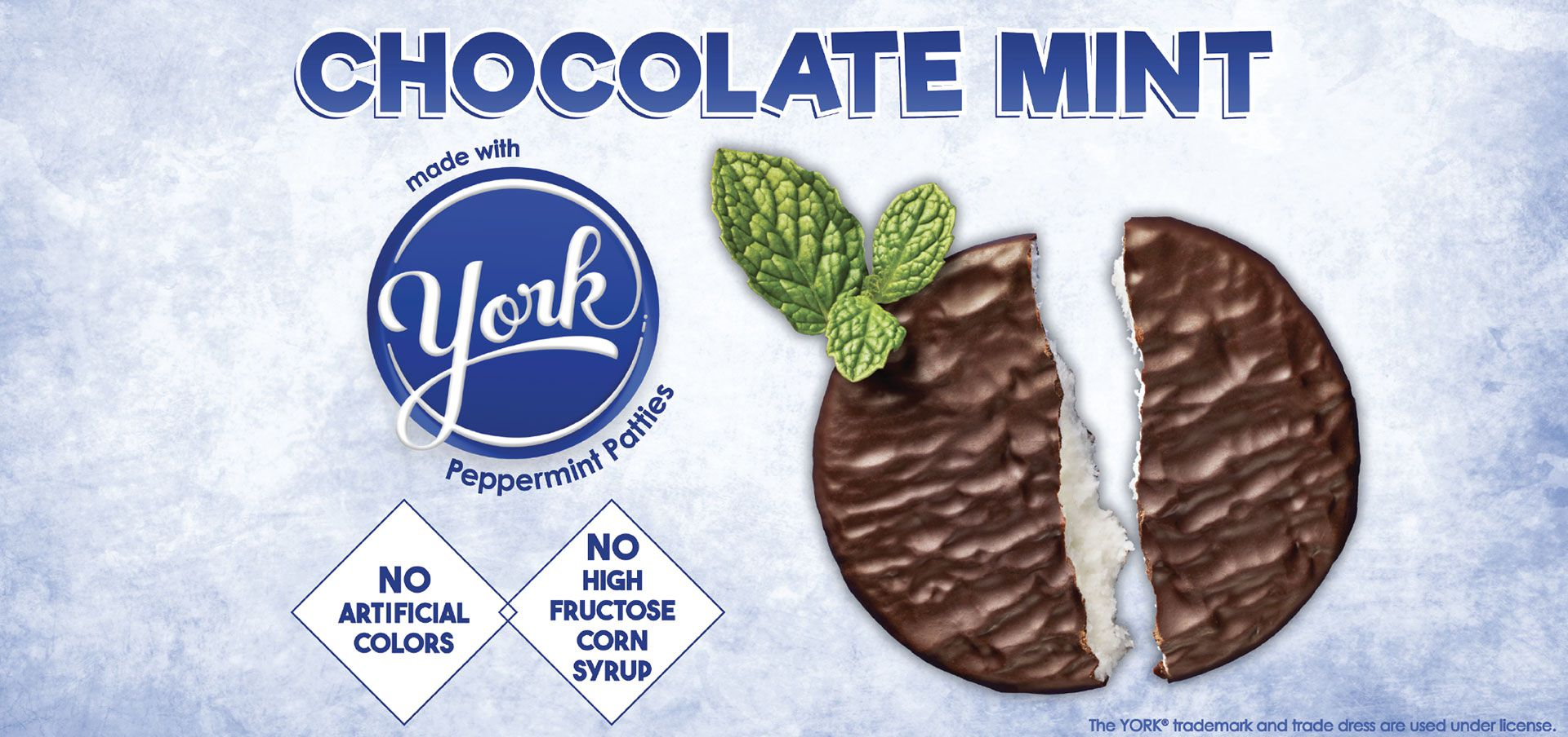 chocolate mint made with york® peppermint patties label image