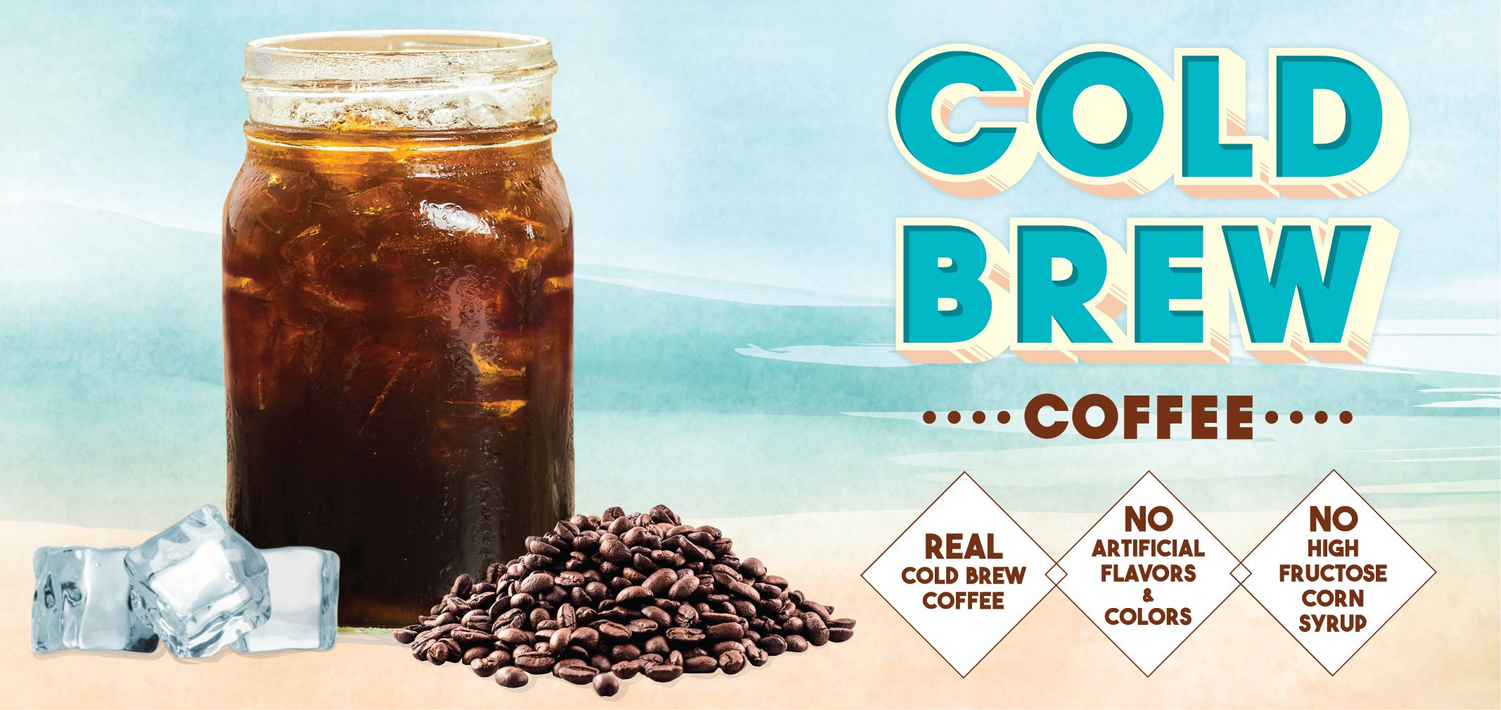 cold brew coffee label image