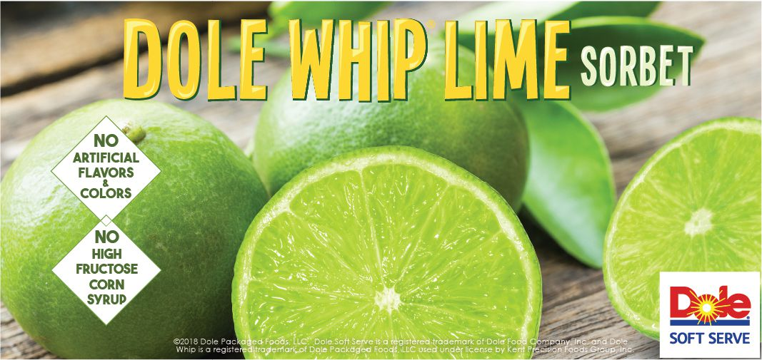 dole® whip lime sorbet label image