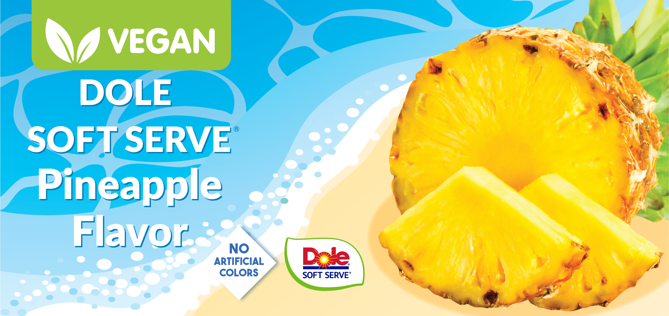 Dole® Soft Serve Pineapple Flavor label image