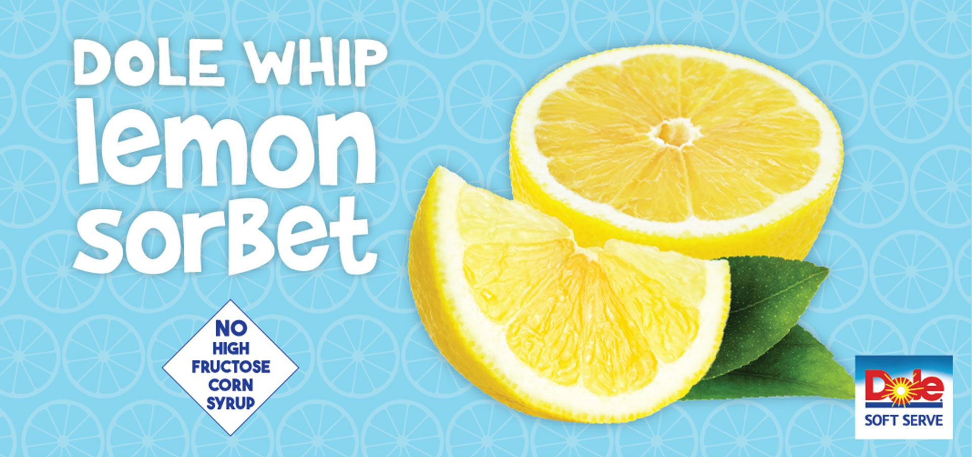 dole® whip lemon sorbet label image