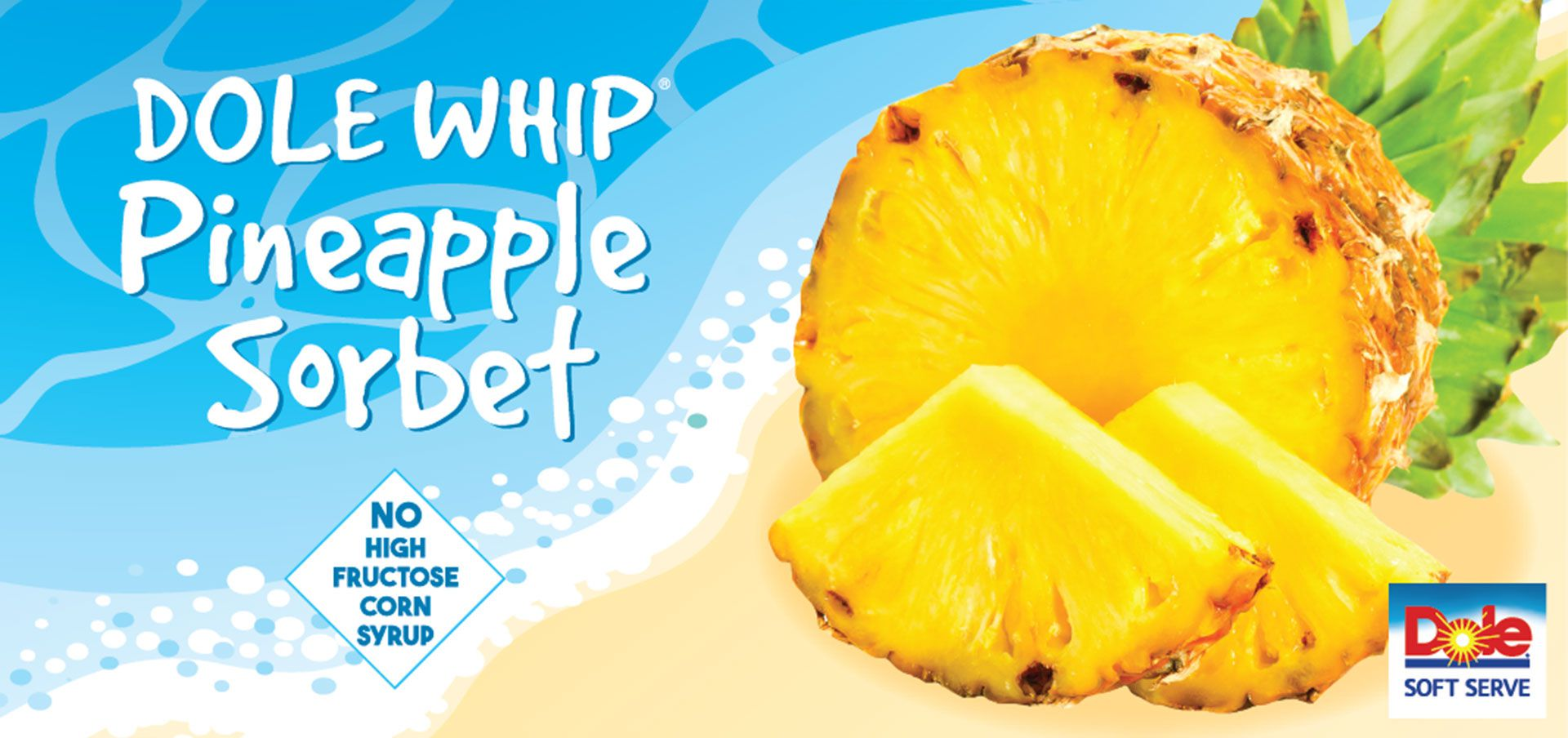 dole® whip pineapple sorbet label image