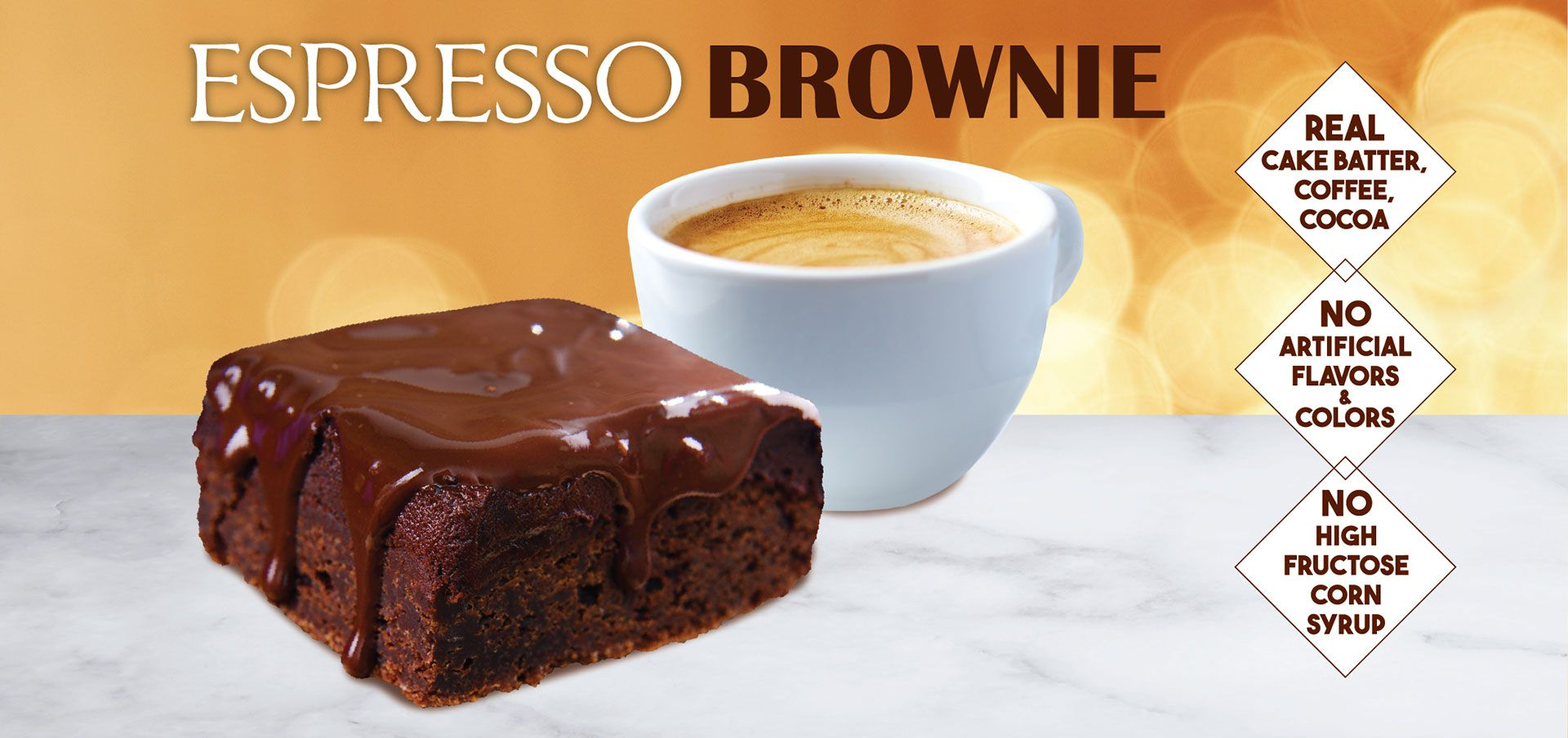 espresso brownie label image