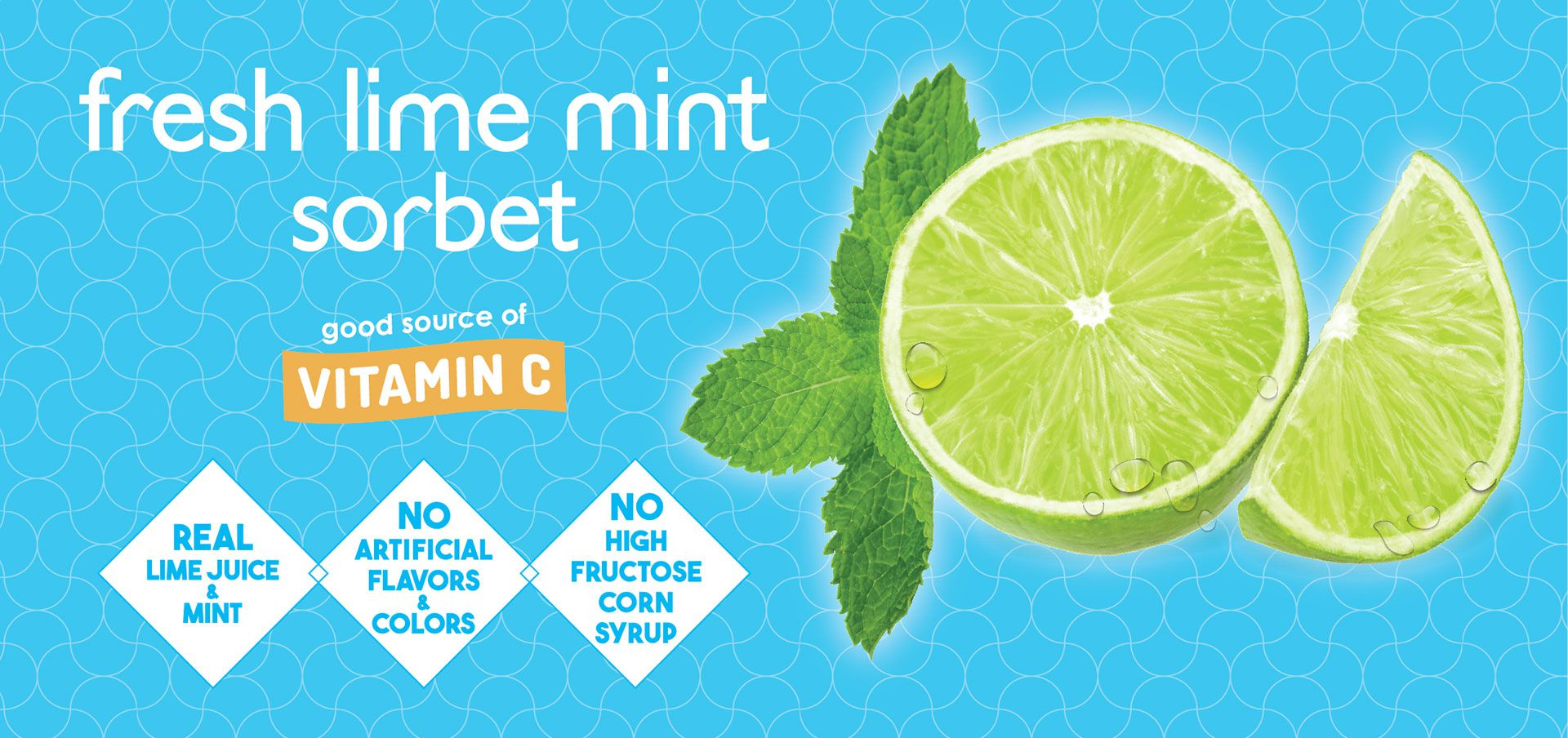 fresh lime mint sorbet label image
