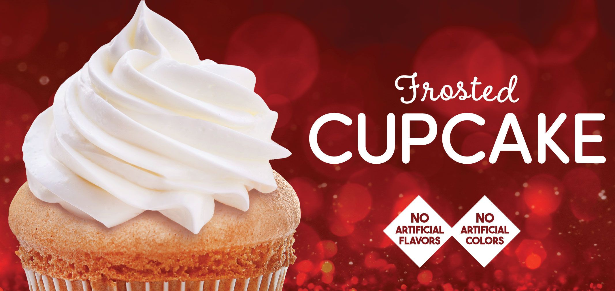 frosted cupcake label image