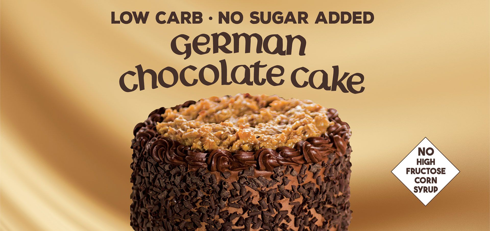 Wow Cow german chocolate cake label image