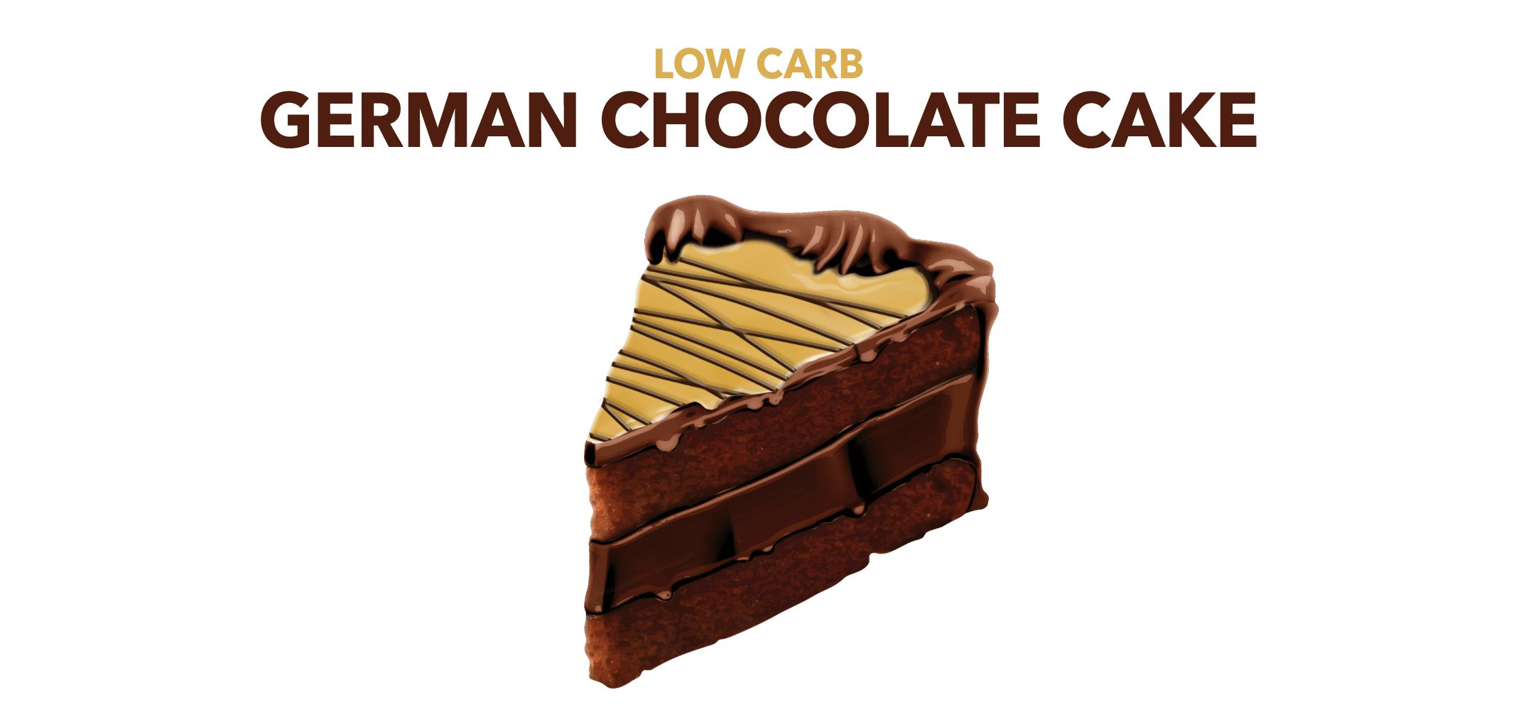 low carb german chocolate cake label image