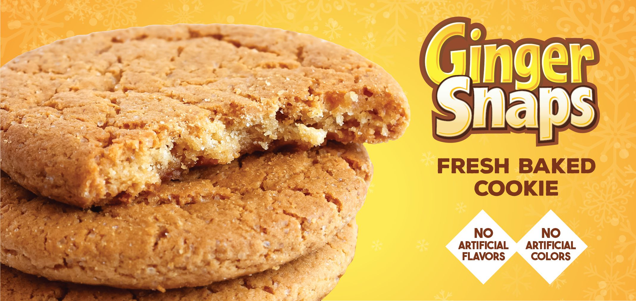 ginger snaps fresh baked cookie label image