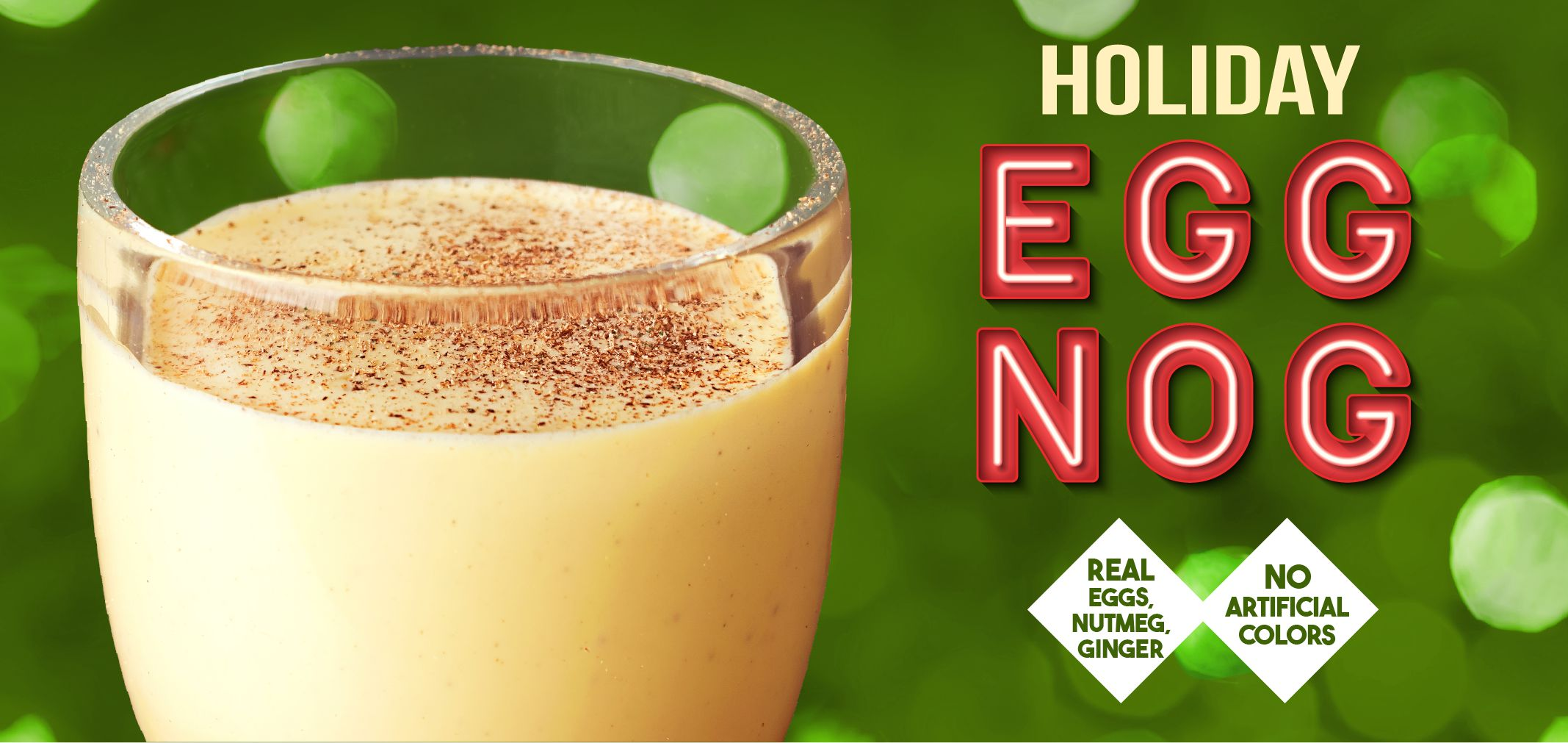 holiday eggnog label image