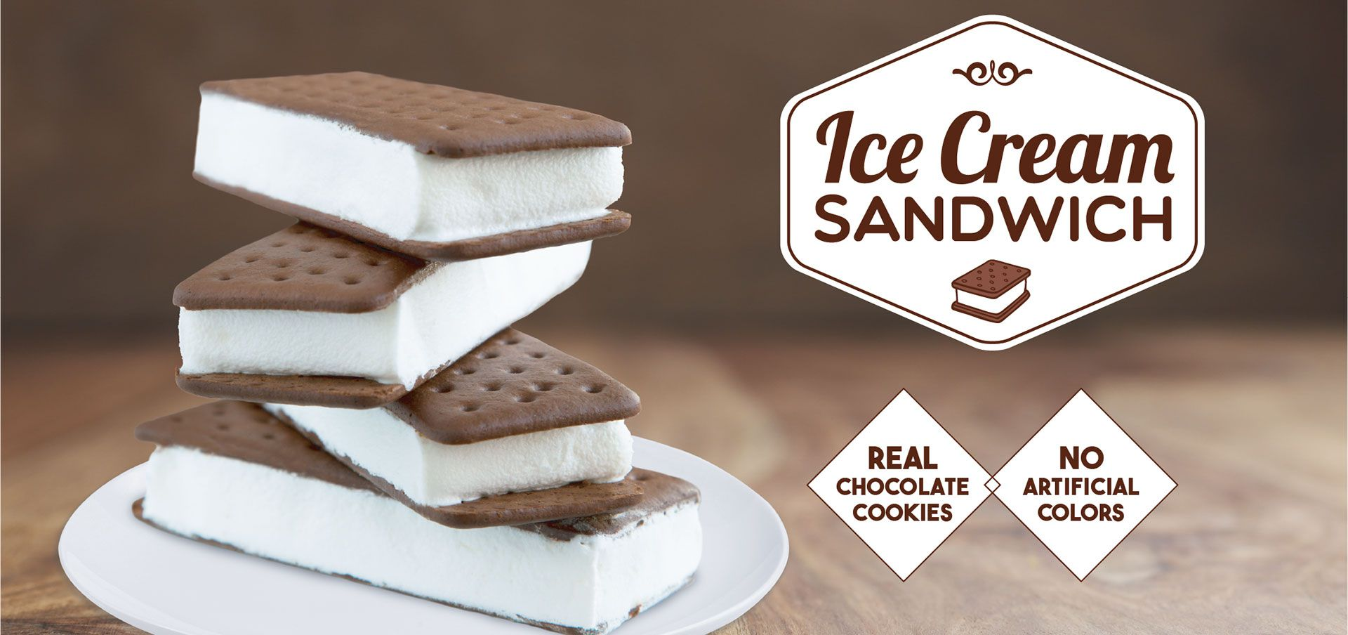 ice cream sandwich label image