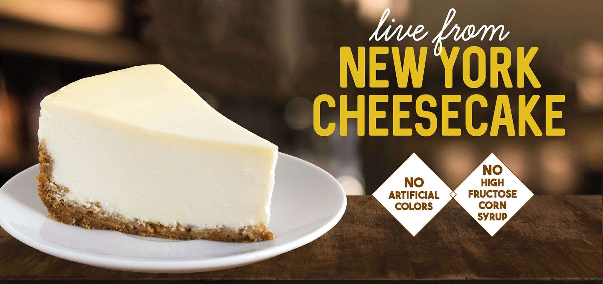 live from ny cheesecake label image