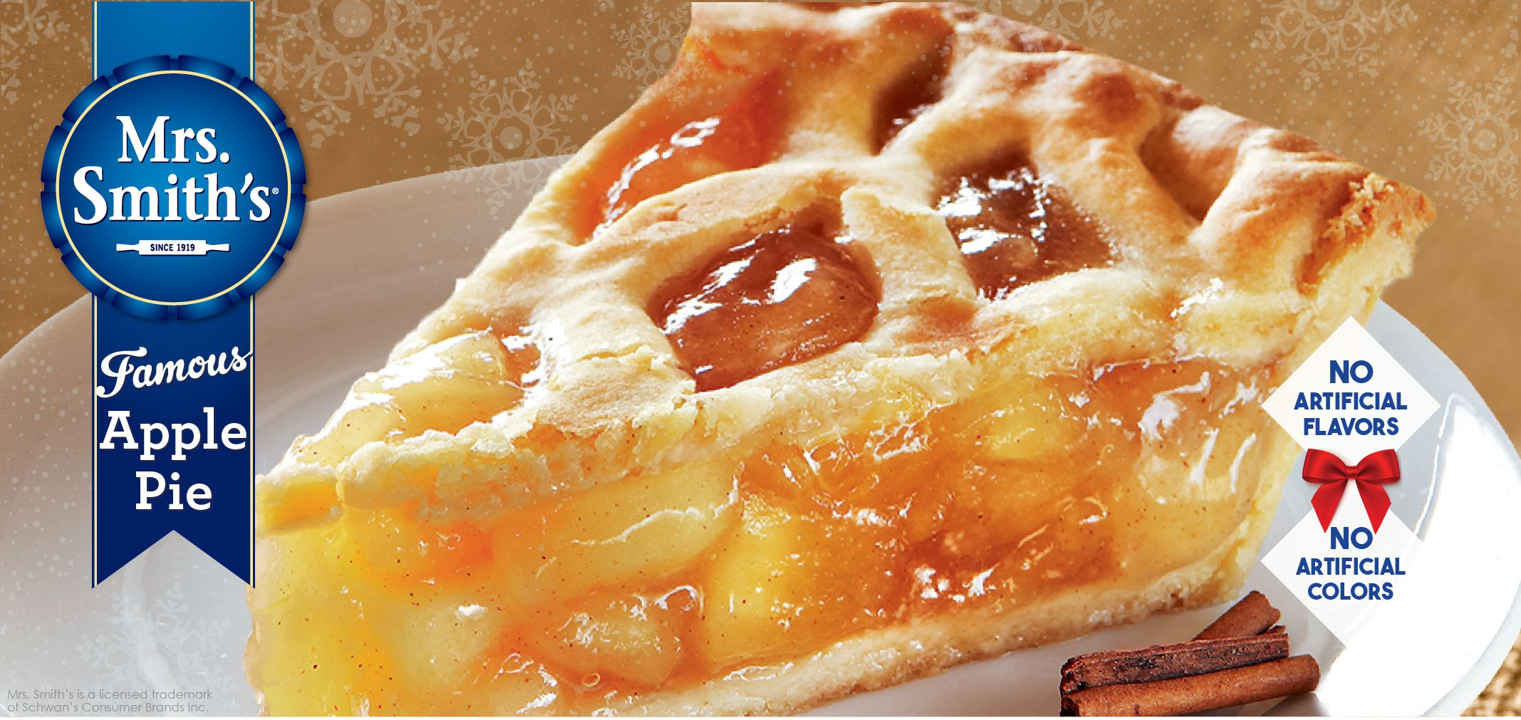 mrs. smith's® famous apple pie label image