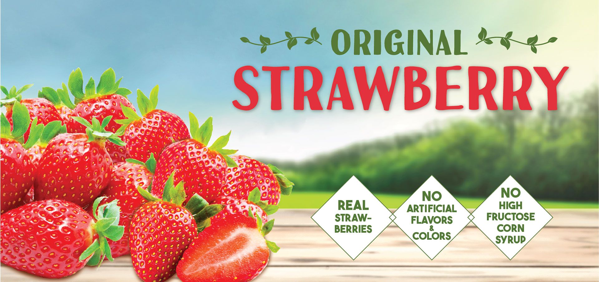 original strawberry label image