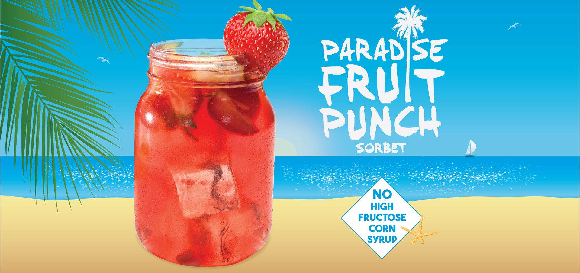 vegan paradise fruit punch sorbet label image