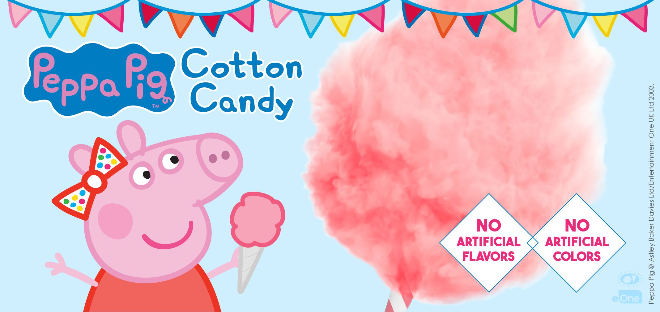 peppa pig's cotton candy label image