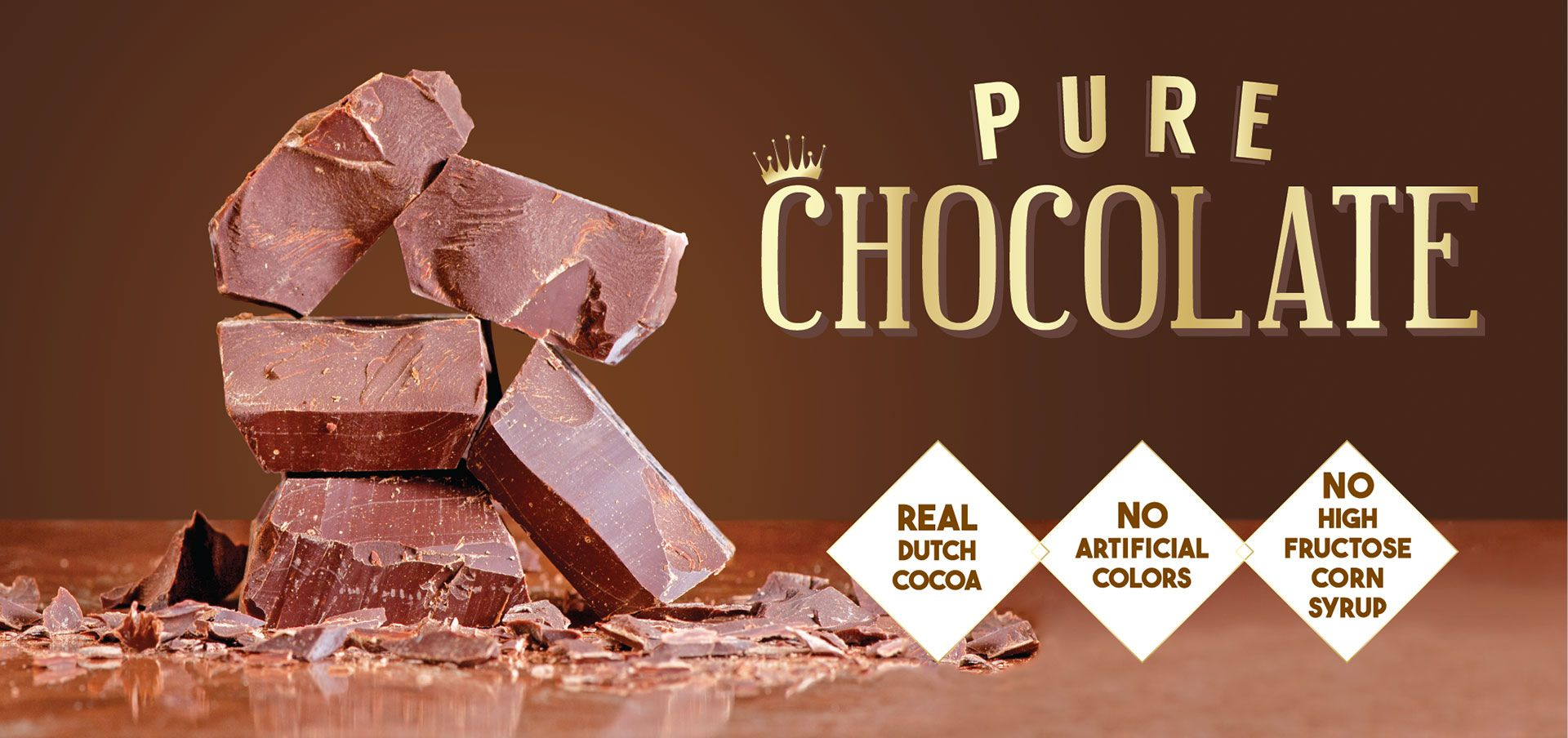 pure chocolate label image