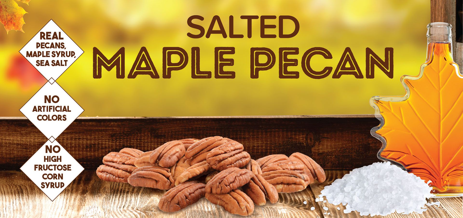 salted maple pecan label image