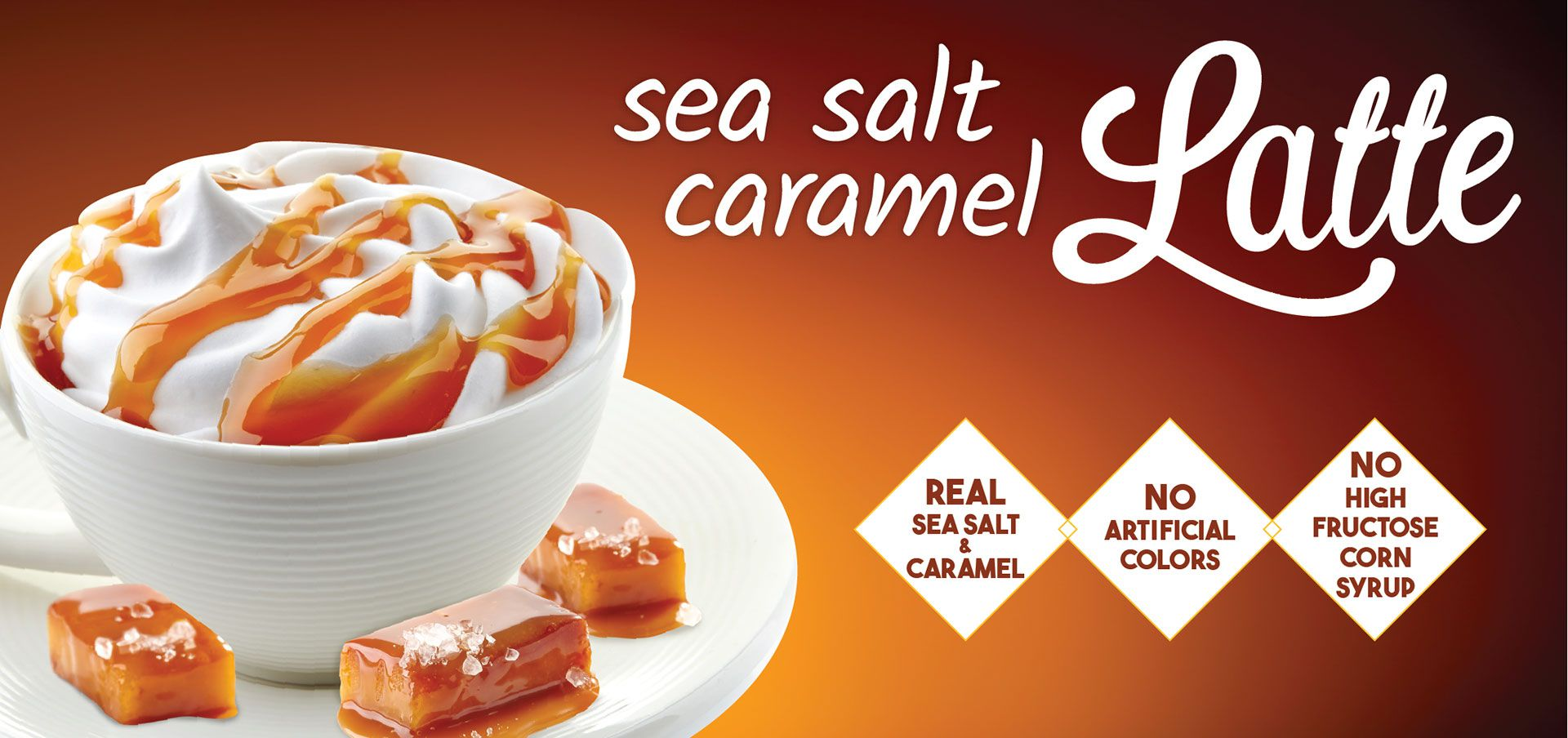 sea salt caramel latte label image
