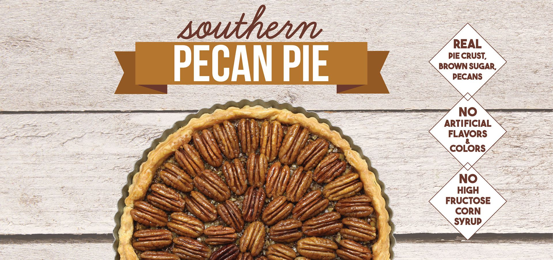 southern pecan pie label image