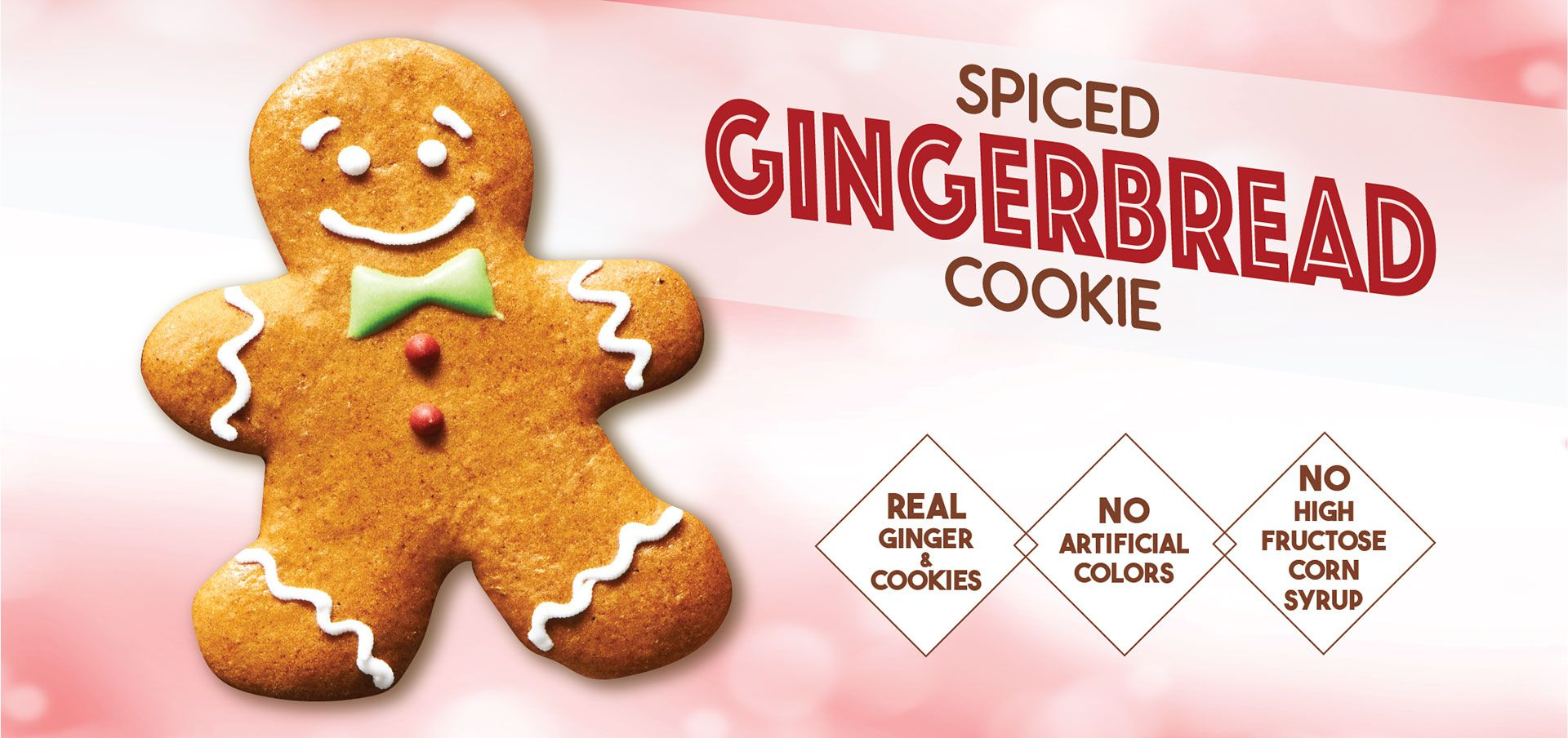 spiced gingerbread cookie label image