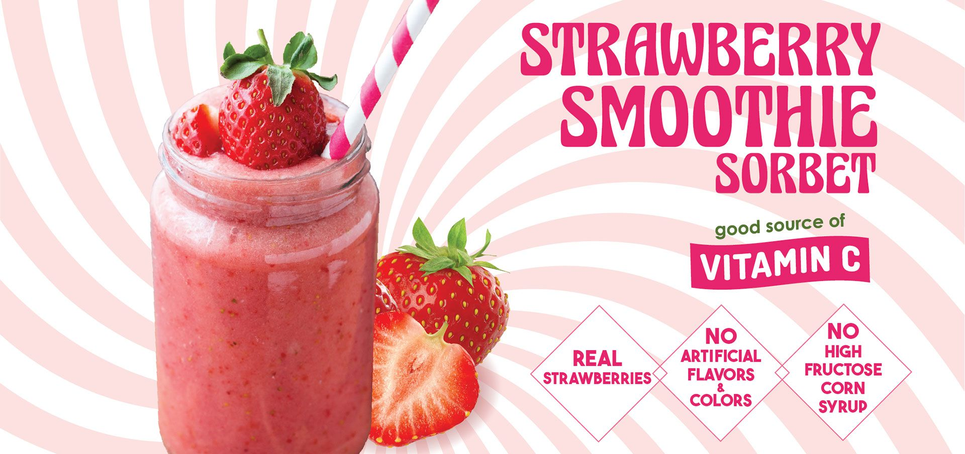 vegan strawberry sorbet label image