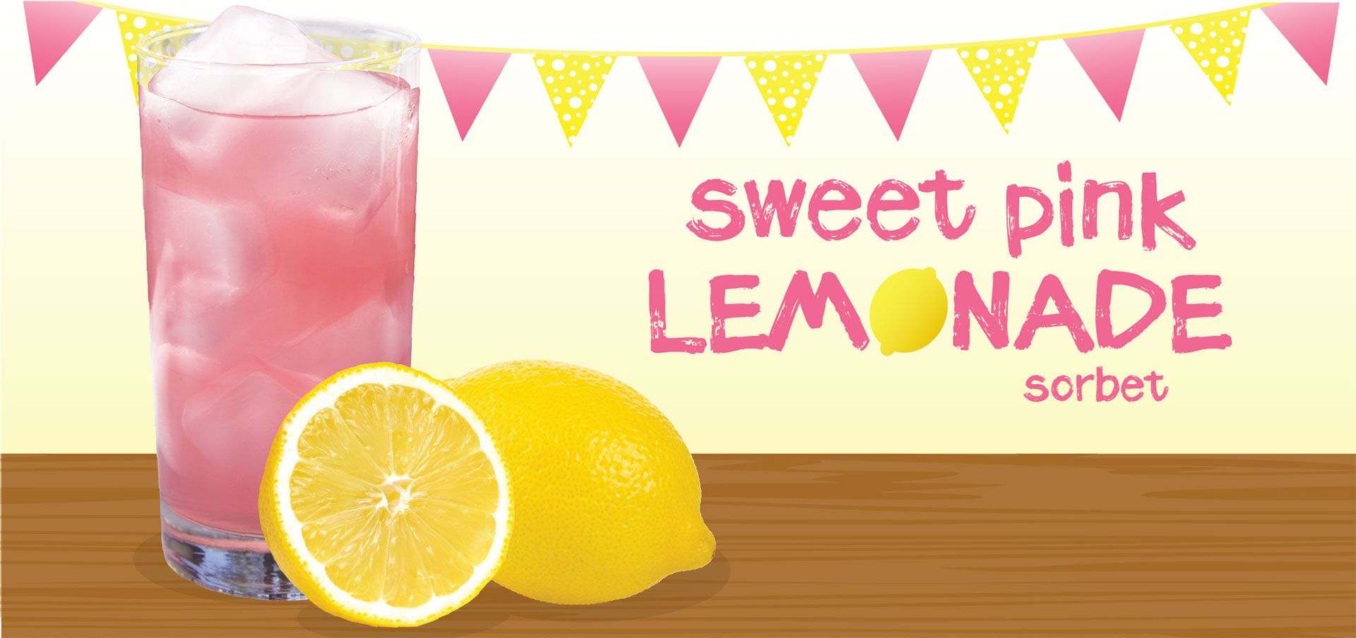 sweet pink lemonade sorbet label image