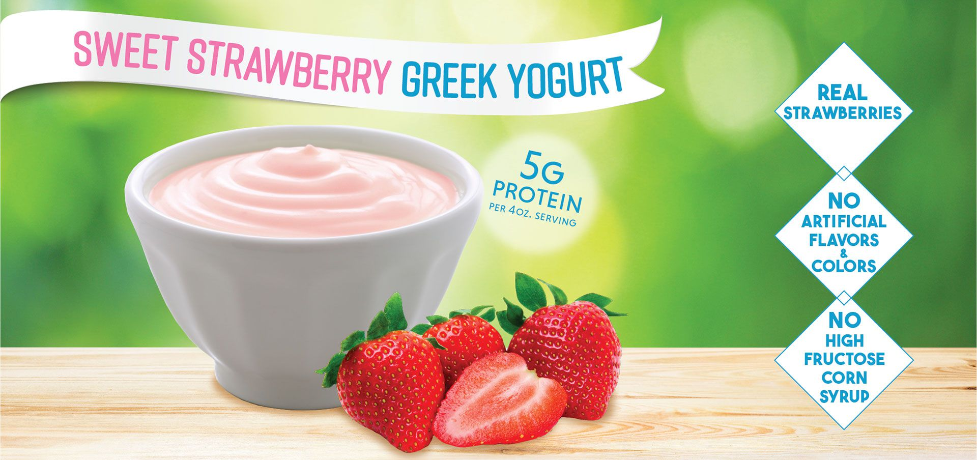 sweet strawberry greek yogurt label image