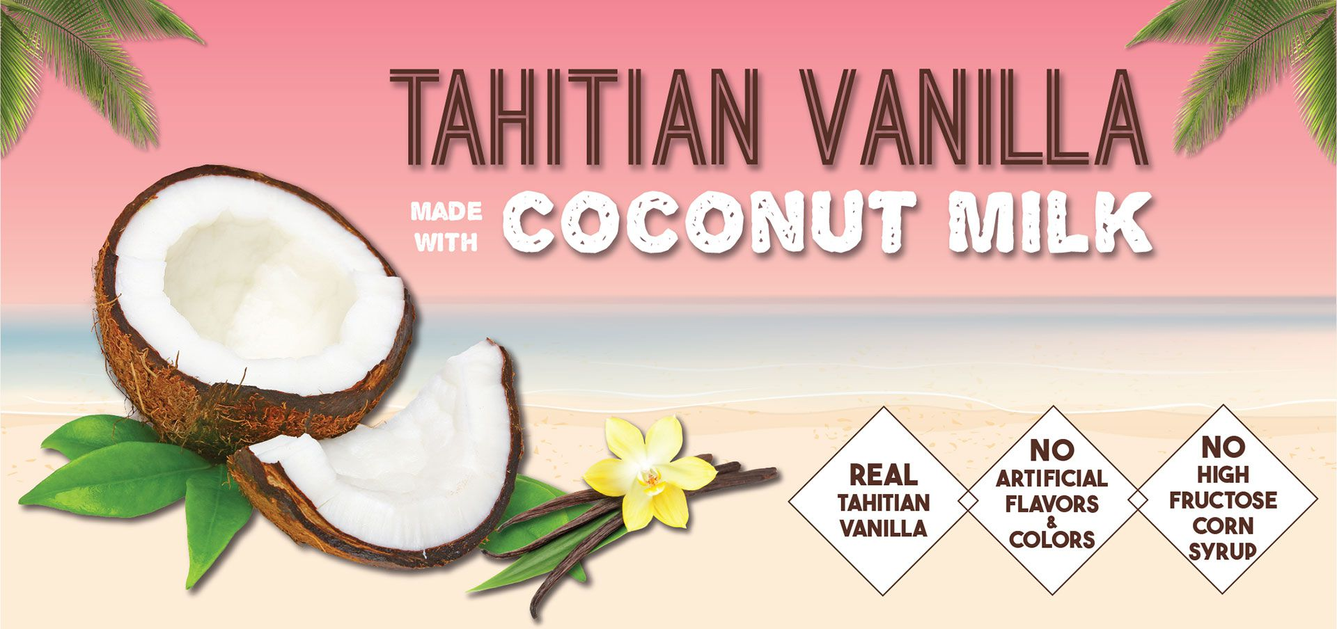 tahitian vanilla made with coconut milk label image