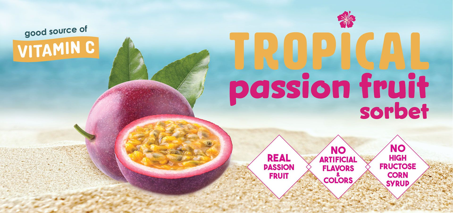 tropical passion fruit sorbet label image