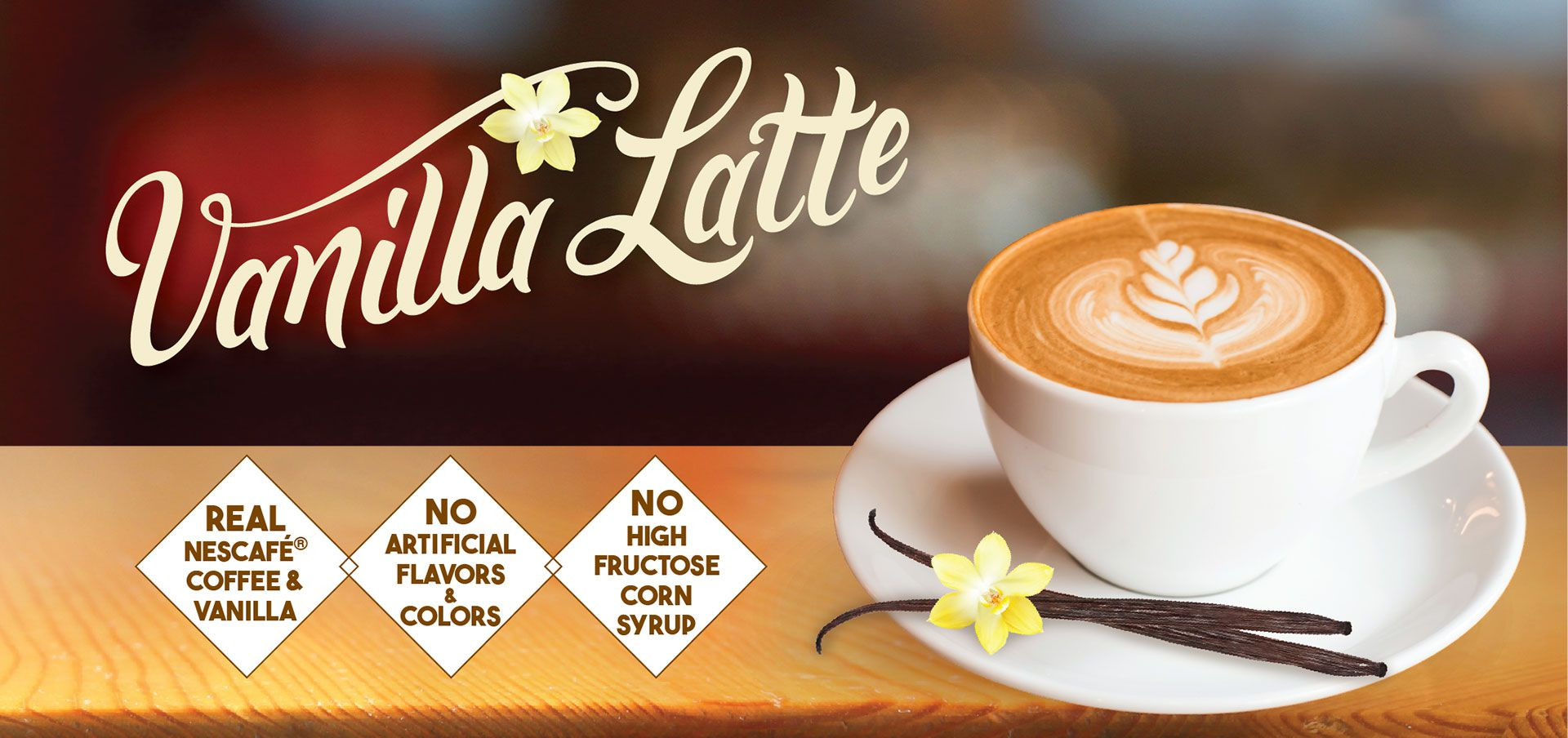 vanilla latté label image