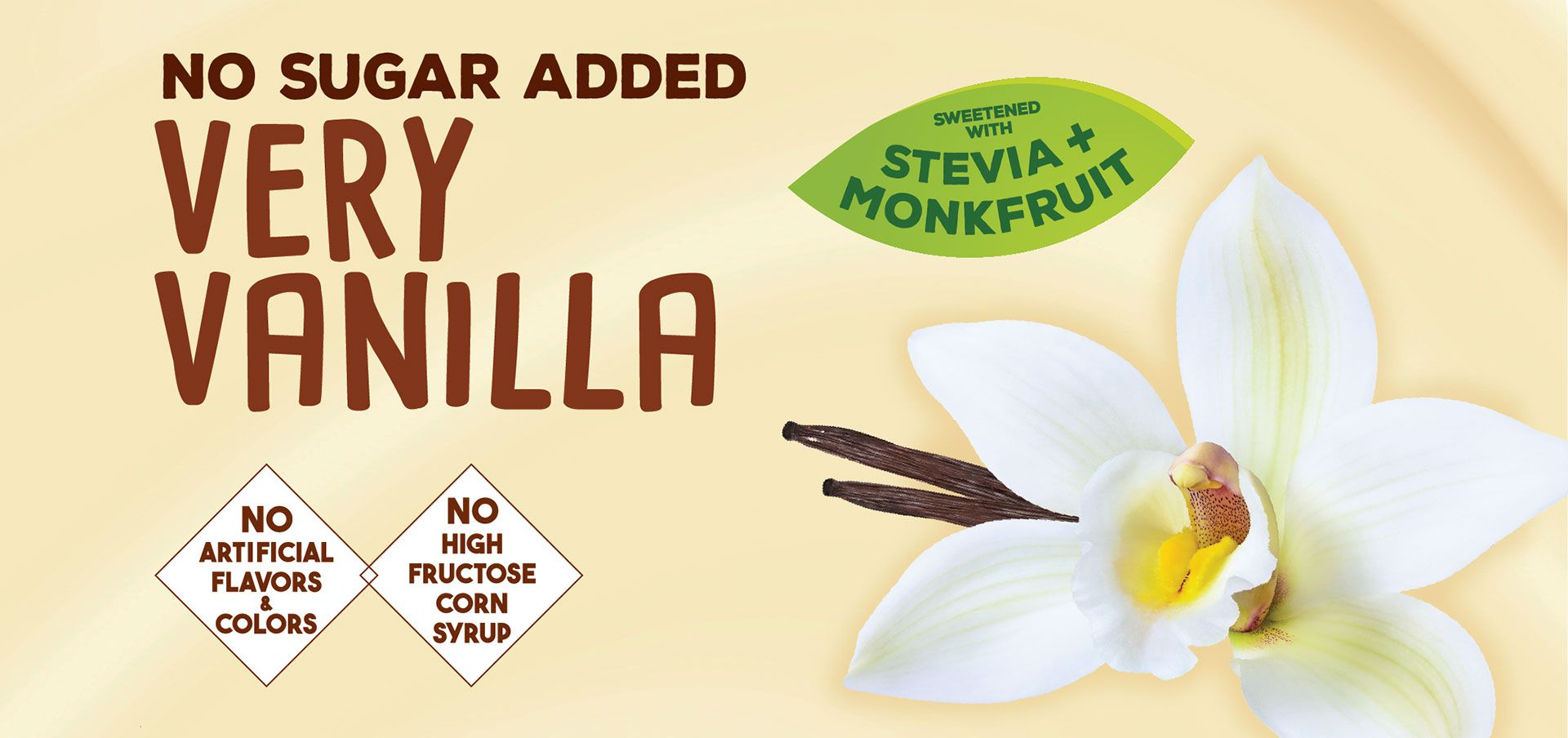 no sugar added very vanilla label image