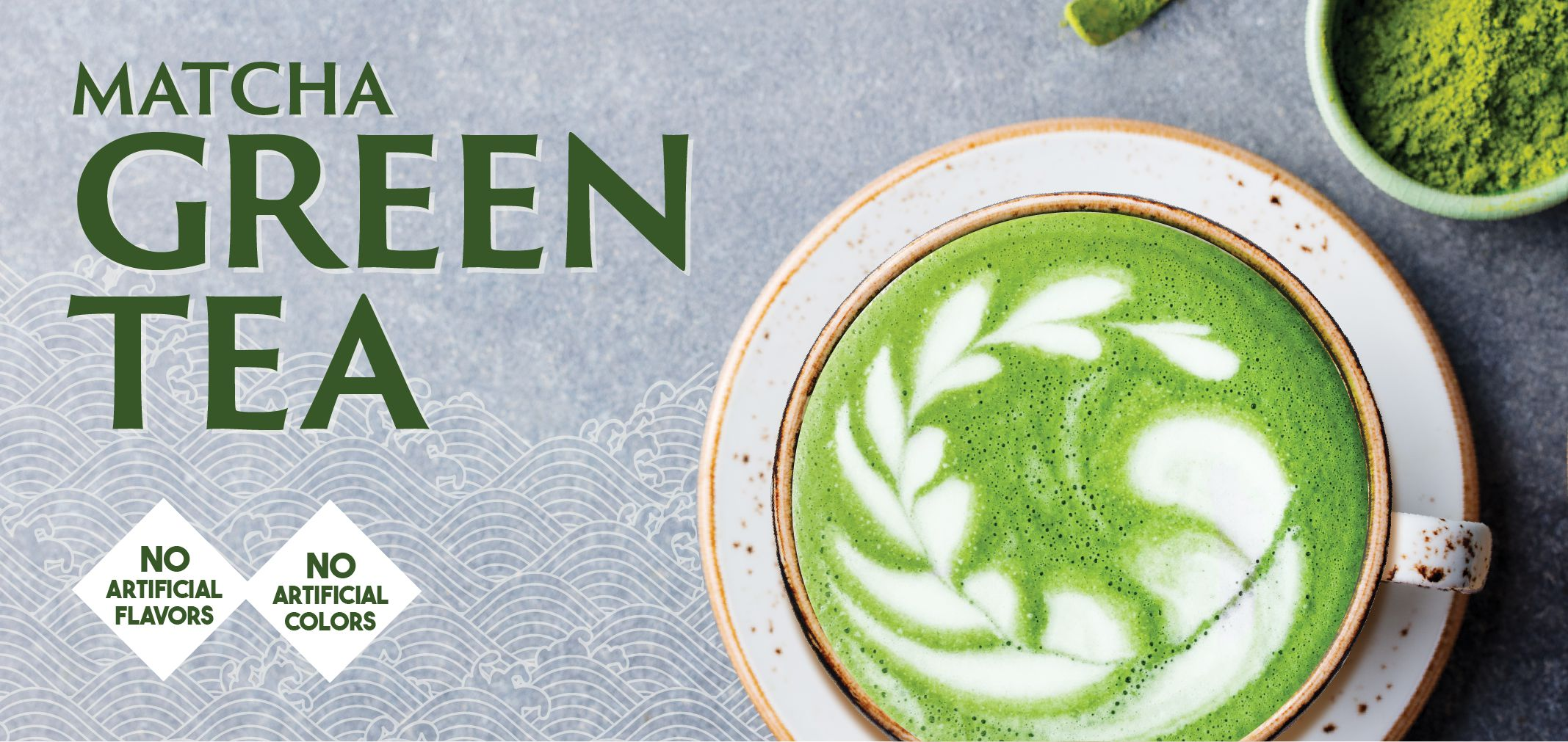 matcha green tea label image