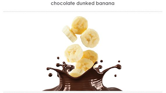 chocolate dunked banana