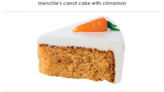 menchie's carrot cake with cinnamon