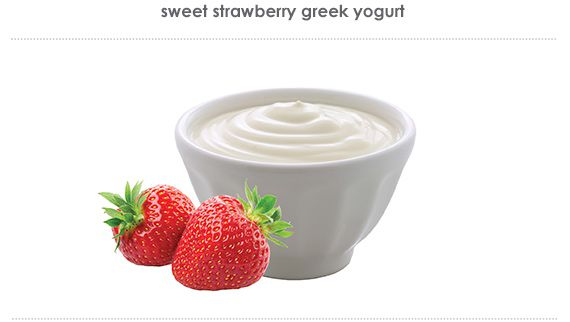 sweet strawberry greek yogurt