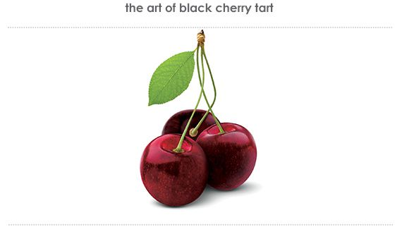 black cherry tart